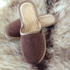 Womens Soft Suede Leather Slip On Slippers Size 3 - 8 Ladies Mule House Shoes