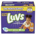Luvs Ultra Leakguards Diapers Disposable All Sizes 1 to 6 One Month Supply