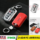 Suede Leather Remote Smart Key Case Cover Key Shell For Toyota Sienna 6 Buttons