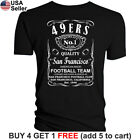 San Francisco 49ers T-Shirt JD Whiskey Graphic SF Men Cotton Whisky $10.75 USD on eBay
