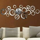 Quartz Wall Clock Europe Design Large Decorative Clocks 3D Diy Acrylic Mirror