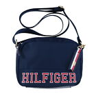 Tommy Hilfiger Womens Crossbody Purse Shoulder Bag Logo Nylon Charm Zip Nwt New