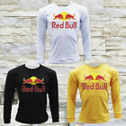 RED BULL ENERGY DRINK RACING LOGO MEN'S BLACK LONG SLEEVE T-SHIRT SIZE S M L XL image