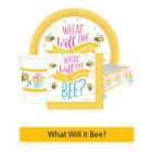 WHAT WILL IT BEE? Gender Reveal Baby Shower Party Range - Tableware Decorations