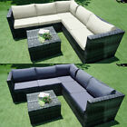 6 Pieces Rattan Garden Corner Sofa Table Chair Furniture Set Outdoor Lounge