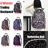 More images of 6 Wheels Removable Trolley Backpack Reflective School Bag For Student Girl