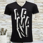 NWT ARMANI EXCHANGE MEN'S BLACK V-NECK SHORT SLEEVE SLIM FIT T-SHIRT SZ S M L XL