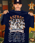 Houston Astros 2019 American League Champions Team Signatures T-Shirt S-5XL on Ebay