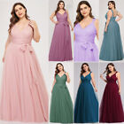 US Ever-Pretty V-Neck Mesh Long Formal Evening Party Gown A-line Ball Prom Dress $38.69 USD on eBay