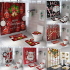 Kyпить US Christmas Serie Printing Bathroom Shower Curtain Toilet Waterproof Cover Mat на еВаy.соm
