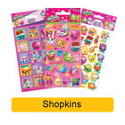 SHOPKINS Fun Foil Stickers - Birthday Christmas Xmas Gift Stationery Colouring