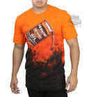 Harley-Davidson Mens Poured Out Motor Oil  Tie-Dye Orange Short Sleeve T-Shirt image