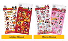 Disney MICKEY & MINNIE MOUSE Stickers - Birthday Christmas Xmas Gift Stationery