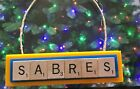 Buffalo Sabres Christmas Ornament Scrabble Tiles Magnet Rear View Mirror $8.99 USD on eBay