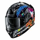 Shark Spartan Lorenzo Catalunya GP Motorcycle Helmet Black/Platinum