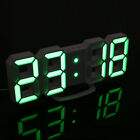 3D Modern Digital LED Table Night Wall Clock 24/12 Hour Snooze Timer Alarm Clock
