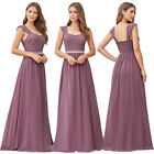 US Ever-Pretty Long A-Line Elegant Lace Chiffon Wedding Guest Bridesmaid Dresses