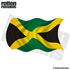 Jamaica Waving Flag Decal Jamaican Reggae Car Vinyl Sticker (LH) EMV