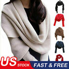 Women Knitted Sweater Tops Warm Knitted Scarf with Sleeve Wrap Shawl Scarves HOT