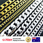 Necklace Chain Bracelet 925 Silver 18k Yellow Gold Filled Solid Curb Cuban Link