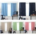Shiny Star Blackout Window Curtains Thermal Insulated Blind Shading Screen Drape