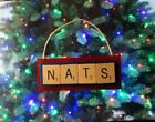 Washington Nationals NATS Christmas Ornament Scrabble Tiles Magnet on Ebay