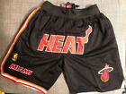 Miami Heat MEN'S Basketball BLACK Shorts Sizes S-2XL on eBay