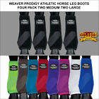 WEAVER PRODIGY ATHLETIC HORSE LEG BOOTS FRONT REAR FOUR PACK U-LAIN