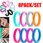 Kyпить 8Pcs/Set Womens Silicone Wedding Ring Rubber Band Durable GYM Sports Engagement на еВаy.соm