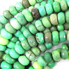 Faceted Green Chrysoprase Rondelle Beads 15.5