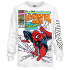 Spider-Man 90's Marvel Age Marvel Officially Licensed Adult Long Sleeve T Shirt