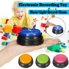 Kids Recordable Talking Button Game Answer Buzzer Alarm Button Christmas Gifts