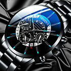 Fashion Mens Stainless Steel Quartz Wrist Watch Calendar Business Casual Watches image