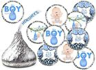 ITS A BOY BABY SHOWER PARTY FAVORS KISSES KISS LABELS STICKERS