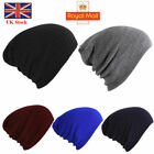 Mens Women Winter Beanie Hat Warm Oversized Slouch Beanie Hat Cap Skateboard UK