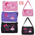 Kids Girl Ballet Dance Snow Hand Bag Shoulder Duffel Luggage Carry-on Tote Gift