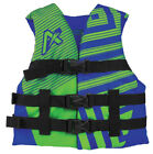 Airhead Trend Boys Youth Closed Side Life Vest Blue/Green