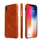 Jisoncase Cover Genuine Leather Case for iPhone X/XS Luxury Brand Vintage Phone