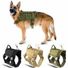 K9 Dog Harness Nylon Vest For pet Police Dogs Large Military Tactical Training