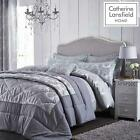 Catherine Lansfield Damask Jacquard Grey Duvet Covers Luxury Quilt Bedding Sets