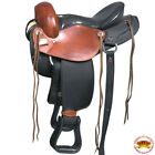 V104- Hilason Gaited Western Trail Pleasure Endurance Saddle Mahogany & Black U-