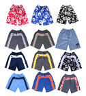 Mens Board Trunks Long Swim Skate Sports Shorts Surf Stripe Flower Swimming New