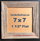 """7x7"""" weathered rustic barnwood barn wood picture photo frame unfinished natural"""