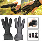 3 Finger Archery Protector Tab Guard Glove Gear Leather Tradition Bow Huntin UA