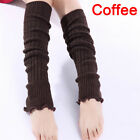 Fashion Women Girl Winter Long Leg Warmers Knit Crochet Leggings Stockings FadDO