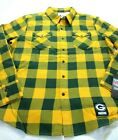 Levi's Mens Green Bay Packers NFL Western LS Button Up Shirt Green Yellow Plaid $39.99 USD on eBay