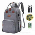 Luxury Baby Diaper Bag Nappy Backpack Waterproof Mummy Changing Bag