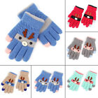 Cute Kids Gloves  Mittens Knitted Winter Warm Full Finger Gloves For Girls Boys
