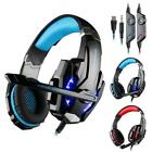 Stereo Bass Surround Wired Gaming Stereo Headset LED Headphone Mic for Gamer