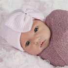 Pink Baby Infant Hat Cap Newborn Girls Head Wrap Beanie Knot Headband Hair Band